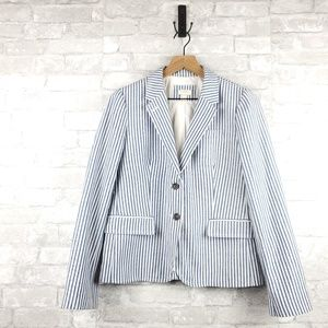 J.Crew vertical striped blazer | Size 12